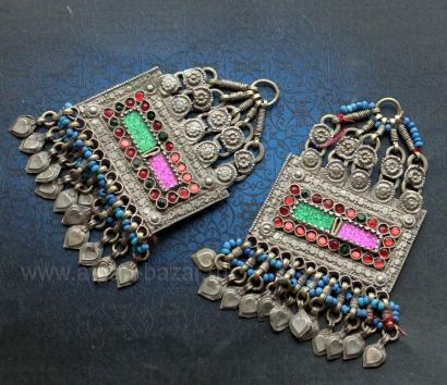 Афганские подвески - детали наголовного украшения. Пакистан (Белуджистан), 20-й