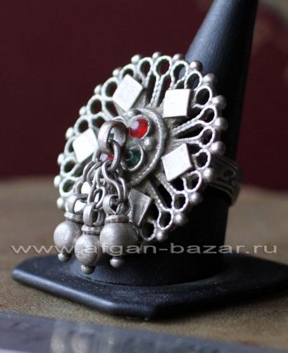Старое афганское племенное кольцо. Афганистан, пуштуны-Кучи середина 20-го века
