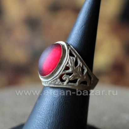 Афганский племенной перстень с халцедоном (Kuchi Tribal Ring)