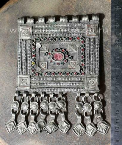 Афганская этническая подвеска-амулет Кучи (Kuchi jewellery)