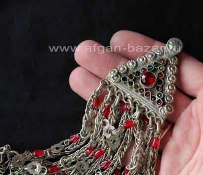 Афганская этническая подвеска - амулет, височное украшение (без пары)