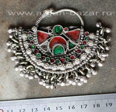 Афганская этническая подвеска - височное украшение (без пары)