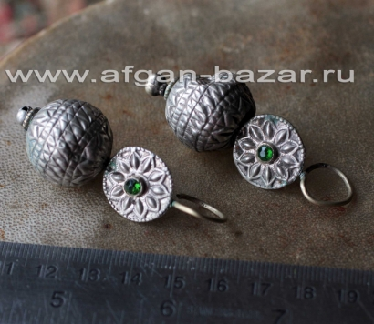 Племенные серьги. Индия или Пакистан, племена Кучи (Kuchi Tribal jewelry), 20-й