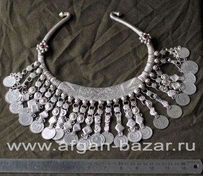 """Гривна """"Ожей"""" - афганское племенное украшение. Пакистан, долина реки Сват, совре"""