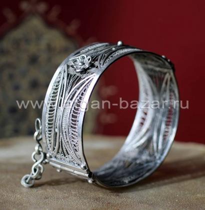 Старый марокканский браслет с филигранью