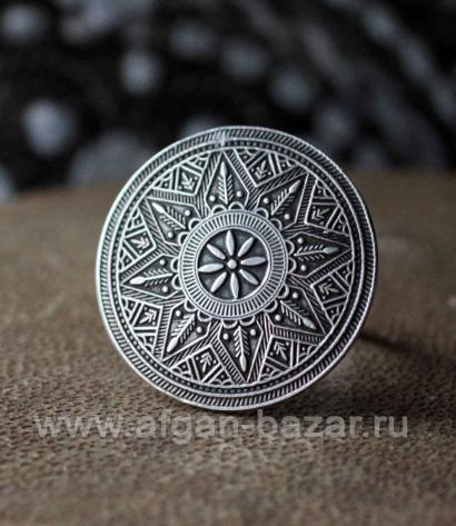 Винтажное египетское кольцо с солярной символикой. Украшения Оазиса Сива
