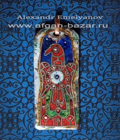 """Александр Емельянов. кулон """"Орел"""" (по мотивам меровингских средневековых орнамен"""