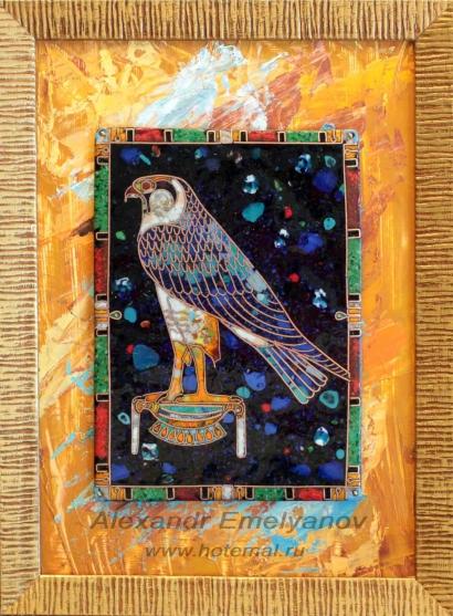 Александр Емельянов Панно Золотой Хор (творческая копия с древнеегипетской фаянс