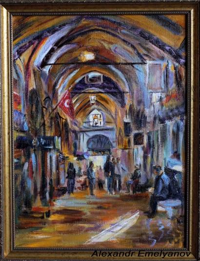 Александр Емельянов. Гранд Базар (Стамбул) Холст, масло