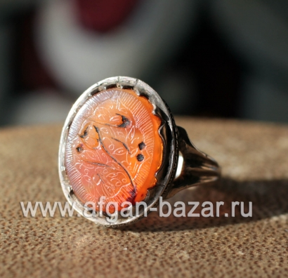 Винтажный иранский мужской перстень с каллиграфической надписью