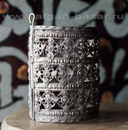 Старый кашмирский браслет с филигранью. Кашмир, середина-вторая половина 20-го в