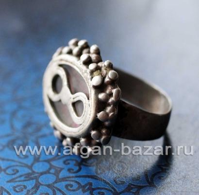 Старинный перстень в казахском стиле. Афганистан или Средняя Азия, 19-й - начало