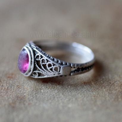 Винтажный афганский перстень с филигранью