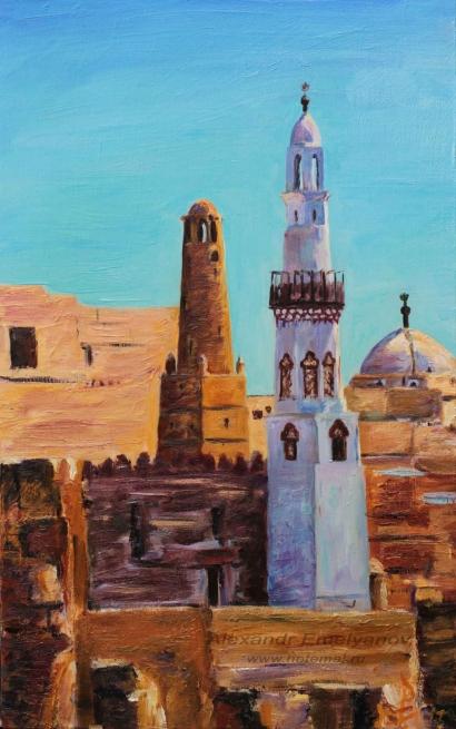 """Александр Емельянов. """"Луксор"""" (Луксорский храм и мечеть Абу Аль Хаггаг, Луксор,"""