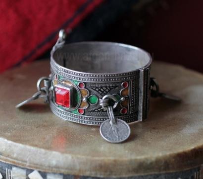 Марокканский браслет с горячей перегородчатой эмалью