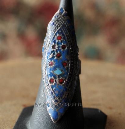 Традиционное мультанское кольцо с восстановленной эмалью