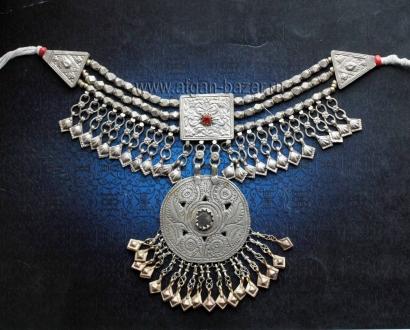Кашмирское племенное колье Пакистан (Кашмир) - племена Кучи (Kuchi jewelery)