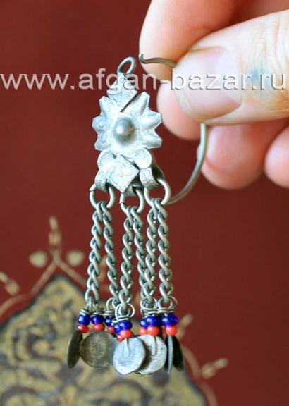 Сережка без пары. Афганистан или Пакистан - племена Кучи (Kuchi jewelery)