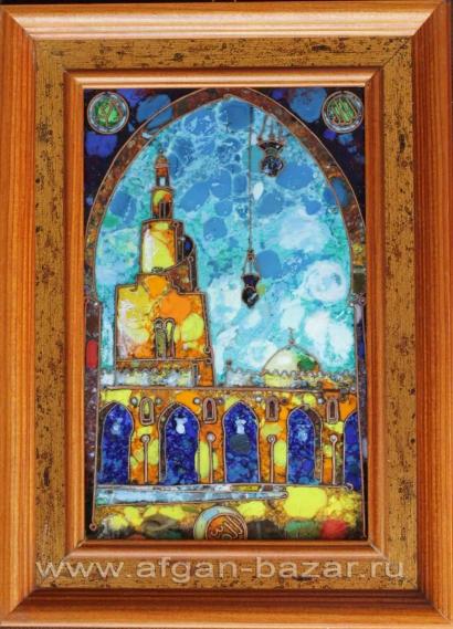 """Александр Емельянов. Панно """"Каир, мечеть Ибн Тулуна"""". Медь, горячая перегородчат"""