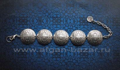 Турецкий браслет из ювелирного сплава в восточном стиле