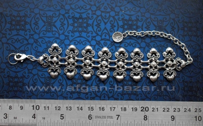 Браслет в восточном стиле - Vintage Oriental Ottoman Style Silver plated Turkish