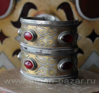 """Туркменский двухрядный браслет """"Билезик"""". Афганистан, середина-вторая половина 2"""