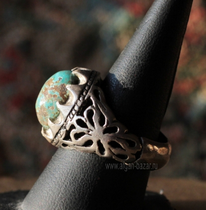 Иранский мужской перстень с бирюзой