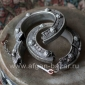 Пара старых афганских браслетов древней формы - Pair of Vintage Afghan Tribal Ku