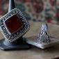 Афганский перстень с состаренным халцедоном (сердолик)