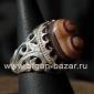 Иранский мужской перстень-талисман с глазковым агатом. Иран, современная работа