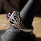 Винтажный иранский перстень с аметистом. Иран, 20-й век