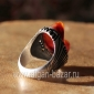 Винтажный иранский мужской перстень-талисман с глазковым агатом