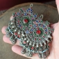 Пара заколок для волос - племенные украшения Кучи (Kuchi Jewelry)