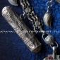 """Афганское нагрудное украшение """"sanjir-i-talesm"""" (фарси) с двумя тавизами (амулет"""