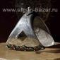 Старый марокканский браслет с чернью и горячей эмалью
