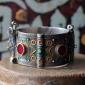 Уникальный марокканский браслет с горячей перегородчатой эмалью