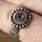 Старый берберский перстень-талисман с венецианским стеклом