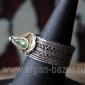 Старый марокканский перстень с горячей эмалью. Марокко, Тизнит, 20-й век - Old M