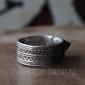 Старый марокканский перстень с горячей эмалью. Марокко, Тизнит, 20-й век