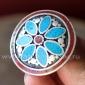 Непальский перстень с инкрустацией цветной мастикой