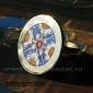 """Перстень """"Византия"""" - латунь, медь, перегородчатая эмаль, авторская работа"""