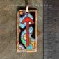 Руна TIWAZ - горячая перегородчатая эмаль, авторская работа