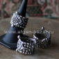 Турецкое кольцо в стиле Трайбл -  Tribal Style Silver plated Ring