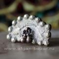 Индийское кольцо с бубенчиками и изображением рыбы. Украшения племени Банджара,