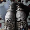 Афганские племенные серьги - височные подвески. Пакистан (Кашмир) - племена Кучи