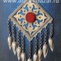 Туркменская подвеска-амулет Гонджик (или Генджик) в стиле украшений племени Теке