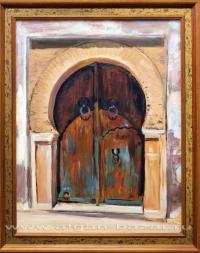 Александр Емельянов. Дверь берберского дома. Тунис, Кайруван