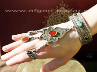 Браслет с кольцами в казахском стиле. Афганистан, 20-й век