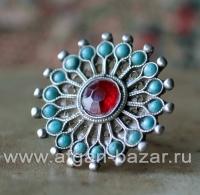 """Винтажное пакистанское кольцо с солярной символикой """"Ангуштар"""" (Angushtar). Юго-"""