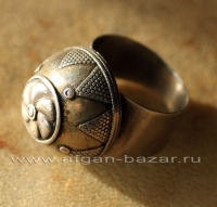 Старый афганский перстень в казахском стиле